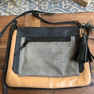 VINCE CAMUTO PEBBLE LEATHER CROSSBODY